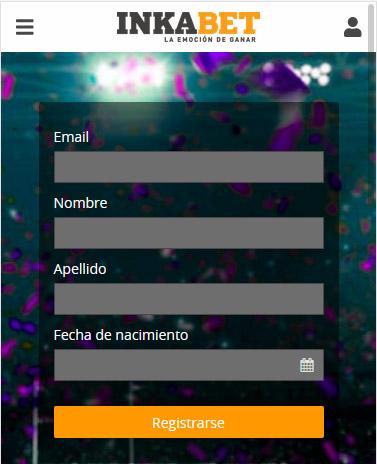 Inkabet formulario de registro